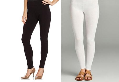 1. Black and white leggings