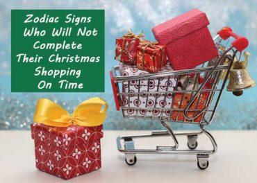 zodiac signs christmas shopping